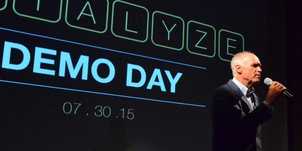 Man introduces Catalyze CU Demo Day event