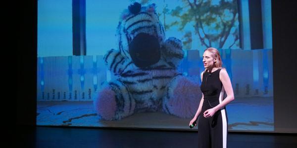 Catalyze CU presenter giving a pitch