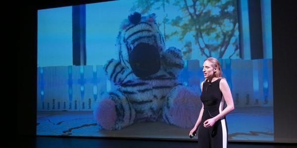 A speaker at a Catalyze CU event