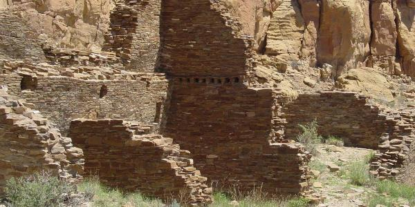 The Hungo Pavi great house in Chaco Canyon