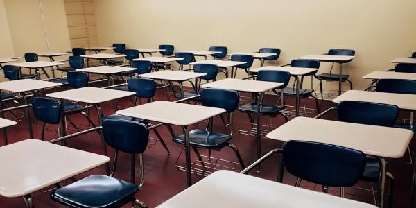 Stock photo of classroom chairs