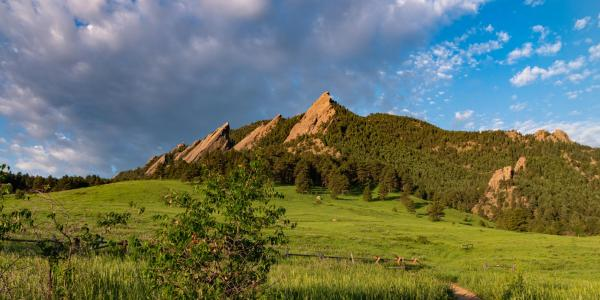 A view of the Flatirons from Chautauqua (Photo by Glenn Asakawa/University of Colorado)