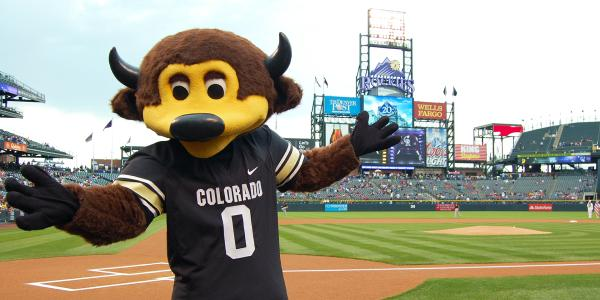 Chip at Coors Field in Denver
