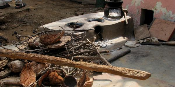 a traditional cookstove in rural India