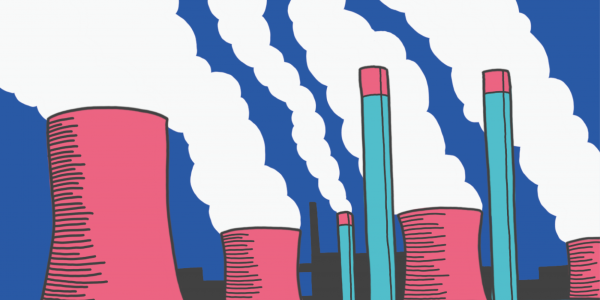 Drawing of smoke stacks