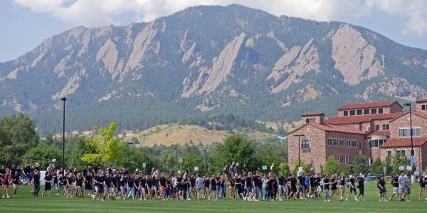 convocation at CU Boulder