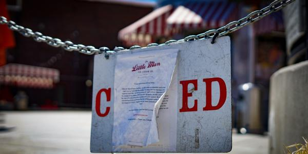 Little Man Ice Cream in Denver, closed temporarily during the pandemic.