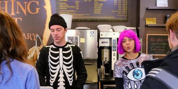 Laughing Goat baristas serve up coffee in Halloween costumes
