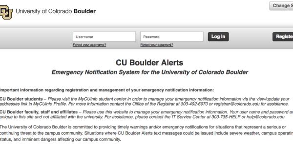 CU Alerts login