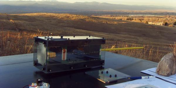 Student-created satellite during long-range field testing