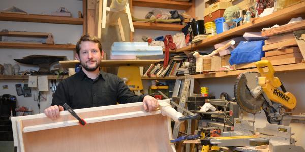 Michael Beitz in his studio at CU Boulder