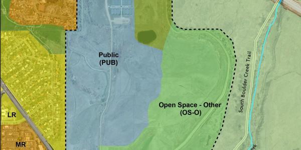 Map of CU Boulder South site