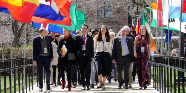 Opening procession of the 2019 Conference on World Affairs.