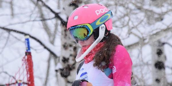 Darby Hartman at a slalom race in Powderhorn, CO.