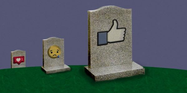 Headstones in social media graveyard