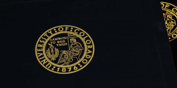 A University of Colorado diploma cover
