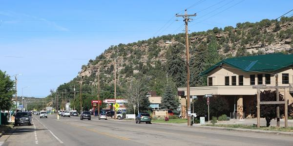 Street scene in Dolores, Colorado