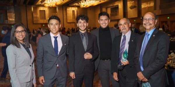 CU Boulder students and leadership at the Denver Scholarship Foundation gala