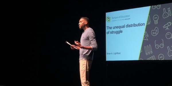 A past Ed Talks event at CU Boulder