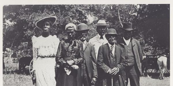 A photo from the 1900s showing Juneteenth celebrations in the Black community