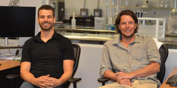 Alumni Tyler Huggins and Justin Whiteley, founders of Emergy Foods
