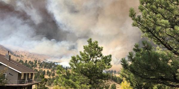 Photo of the Cal-Wood fire (via Lori Peek)