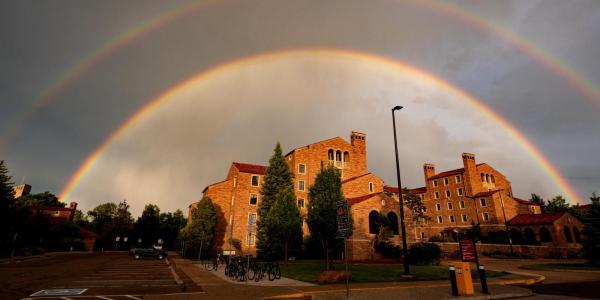 Double rainbow over Farrand Field