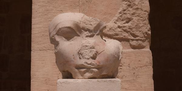 Intentionally mutilated head of Egyptian Pharaoh Hatshepsut