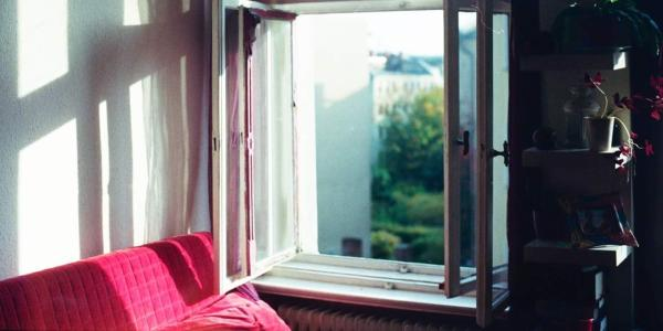 open window in an apartment