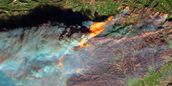 2017 wildfire on California coast