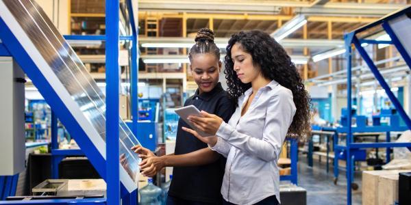 Two female engineers