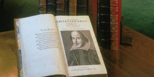 Shakespeare book on display