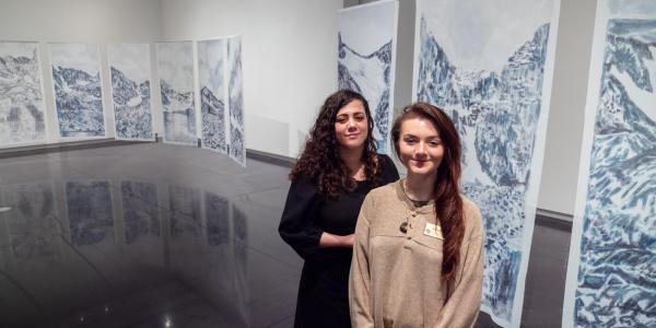 PhD candidate Maya Livio, left, and undergraduate student Valerie Foley