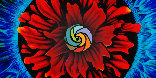 Red flower logo