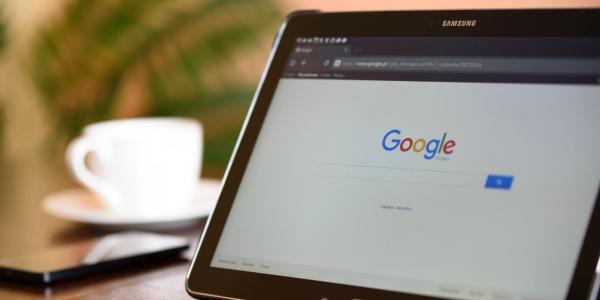Google on tablet device