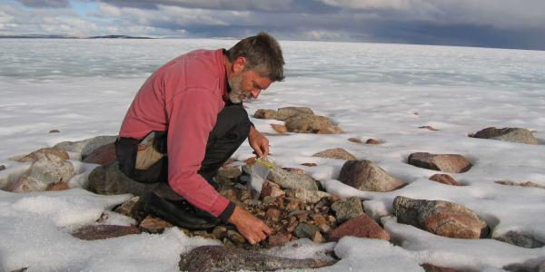 Gifford Miller at Barnes Ice Cap