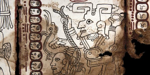 Detail of paintings from a document called the Grolier Codex.