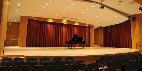 The stage at Grusin Music Hall