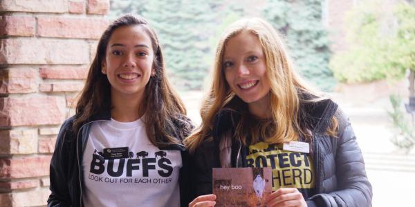 Students pick up Health Hut freebies