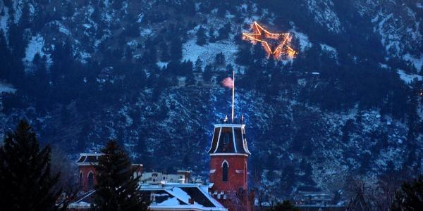The Holiday Star and Old Main
