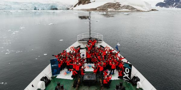 The group of 100 intrepid women seeking to become global leaders in environmental sustainability while on a three-week Antarctic expedition organized by Homeward Bound Project.