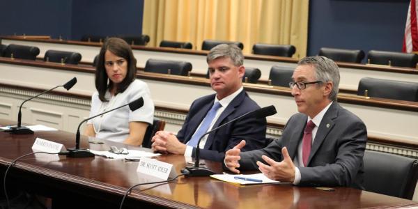 Dean Scott Adler testifying at Congressional hearing