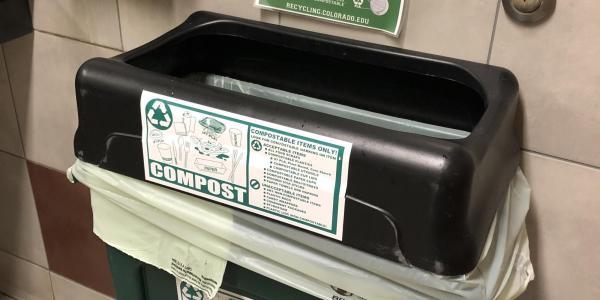 CU Boulder compost bin