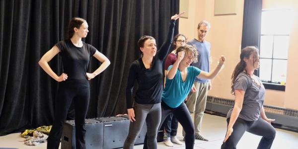 CU Boulder Playback Ensemble rehearses for upcoming workshops in Paonia.