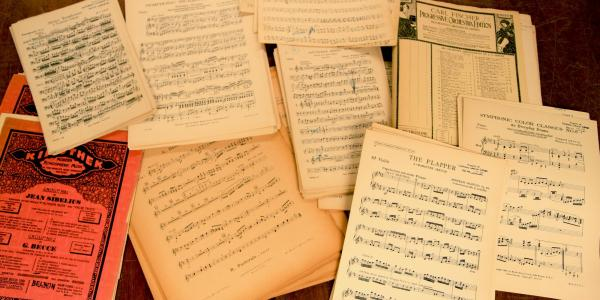 sheet music from new collection
