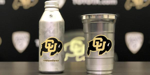 CU Athletics' infinitely recyclable beverage containers.