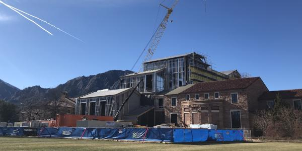 The Imig Music Building under renovation