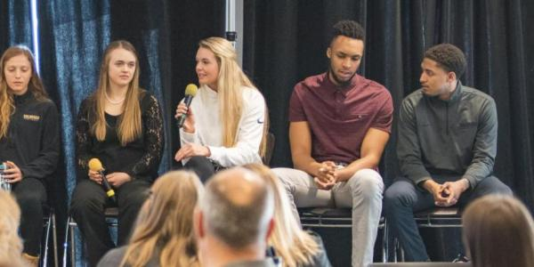 Panelists speak at a past Inclusive Sports Summit