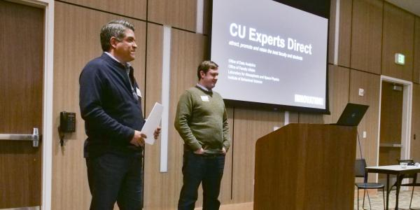 The creators of CU Experts Direct, the winners of the Innovation Buffs challenge