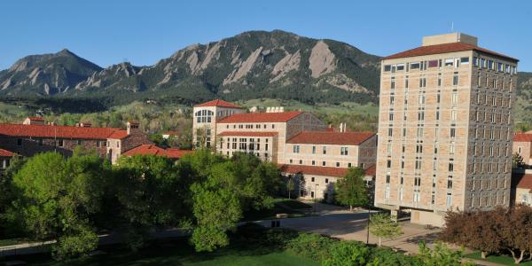 JILA building with the Flatirons in the background